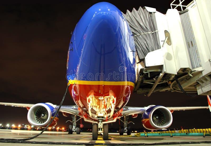 samolot linii lotniczych południowo - zachodnim. zdjęcie royalty free