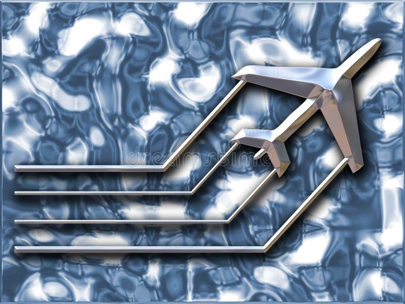 samolot metaliczny ilustracji