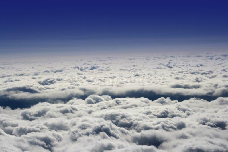 samolot na chmury obrazy stock