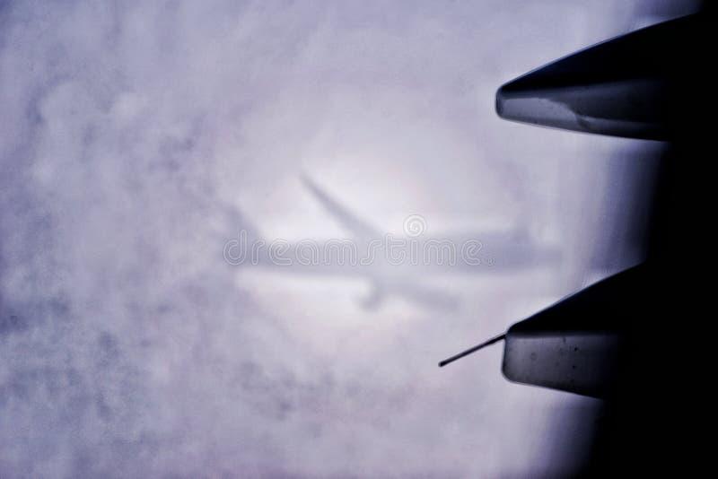 Samolot na clould obrazy stock