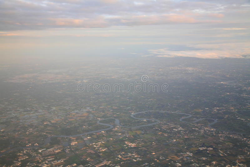 samolot na lotniczy obraz stock