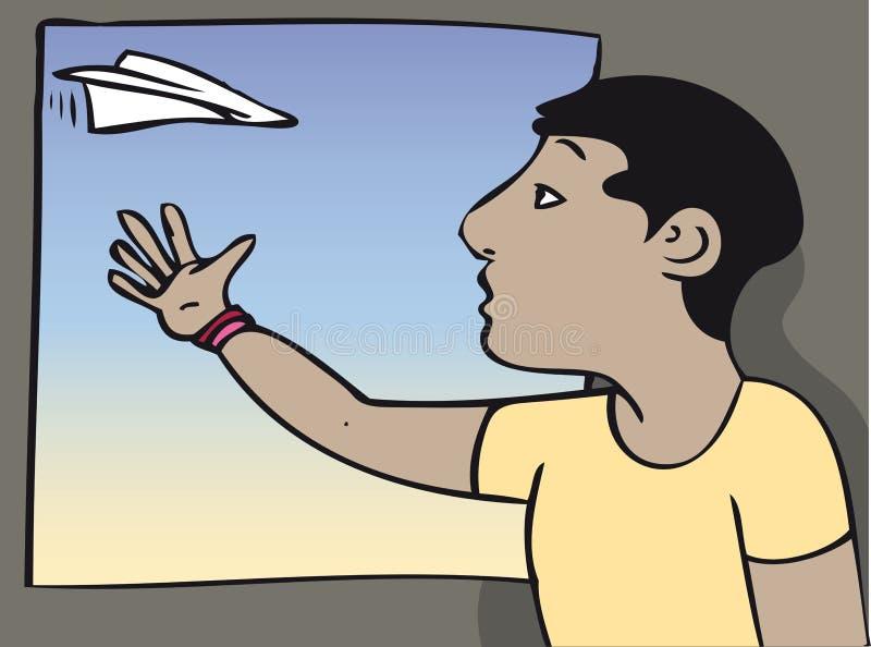 samolot na papierze ilustracji