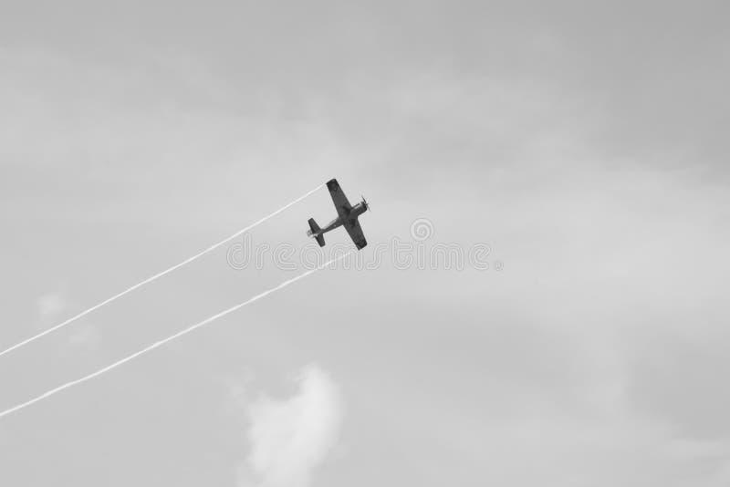 Samolot od Bucharest zawody międzynarodowi pokazu lotniczego zdjęcia royalty free