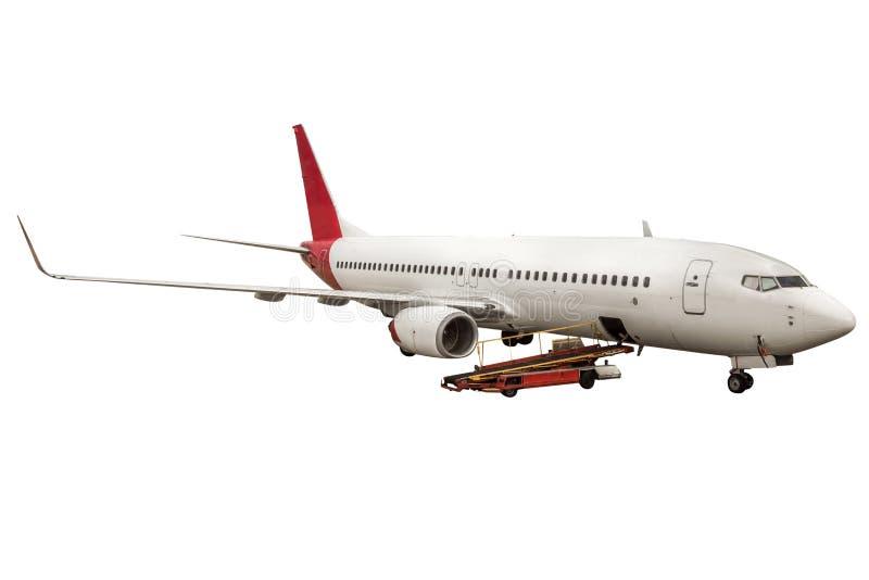 Samolot odizolowywający obrazy royalty free