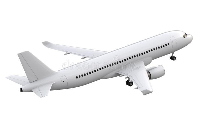 Samolot odizolowywający na białym tle - 3D rendering ilustracji