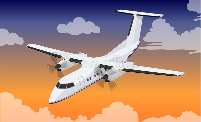 samolot pasażerski royalty ilustracja