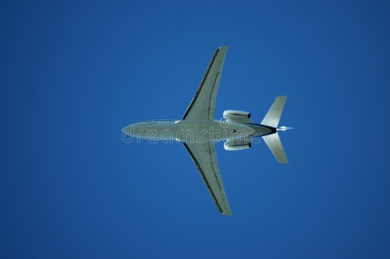 samolot poniżej zdjęcia stock