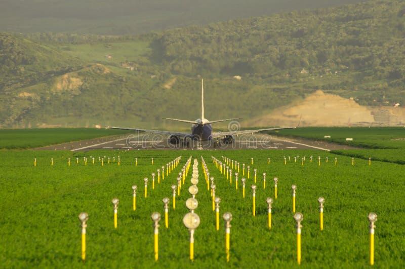 samolot przygotowywający start obraz royalty free