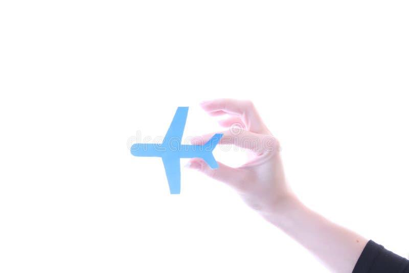 samolot ręka zdjęcia stock