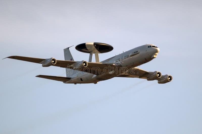 Samolot radarowy NATO Boeing E-3 Sentry AWACS obrazy stock