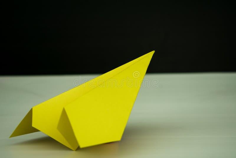 Samolot rakiety papieru fałd sukces dla projekta obraz royalty free