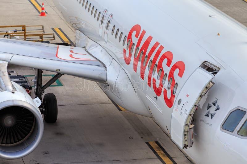Samolot Swiss International Air Lines obrazy stock