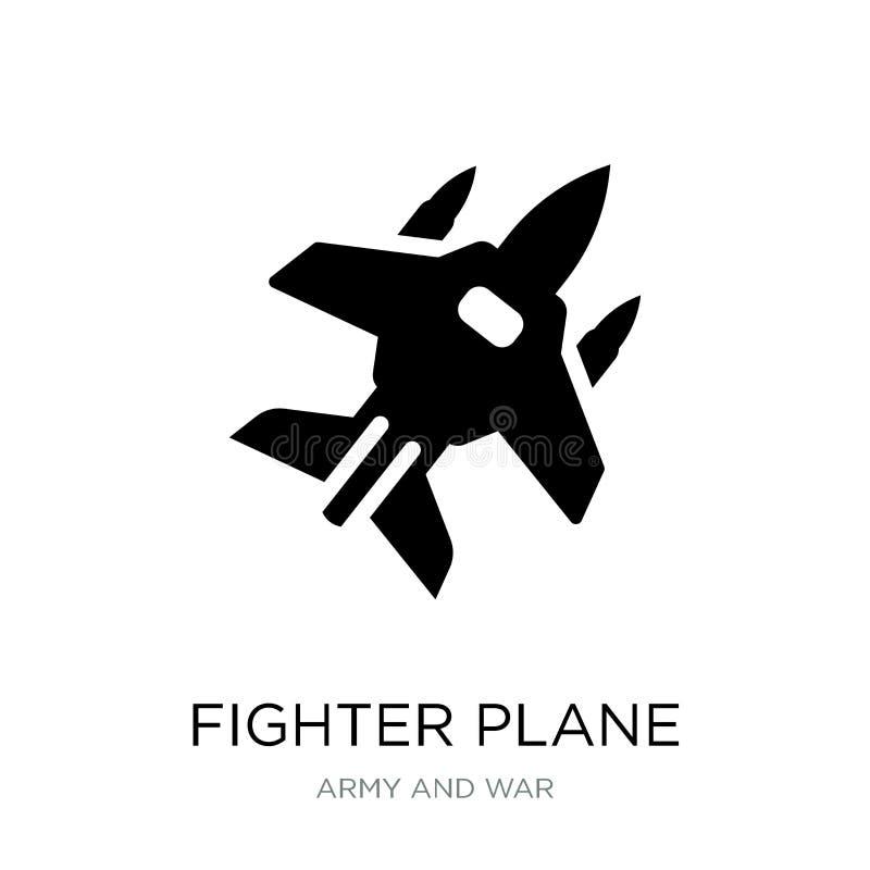 samolot szturmowy ikona w modnym projekta stylu samolot szturmowy ikona odizolowywająca na białym tle samolotu szturmowego wektor ilustracja wektor