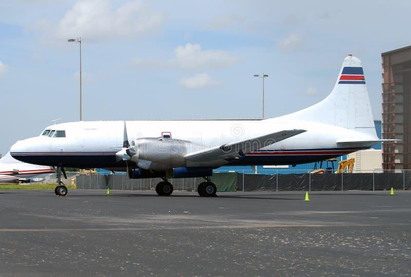 samolot turbośmigłowy zdjęcia royalty free