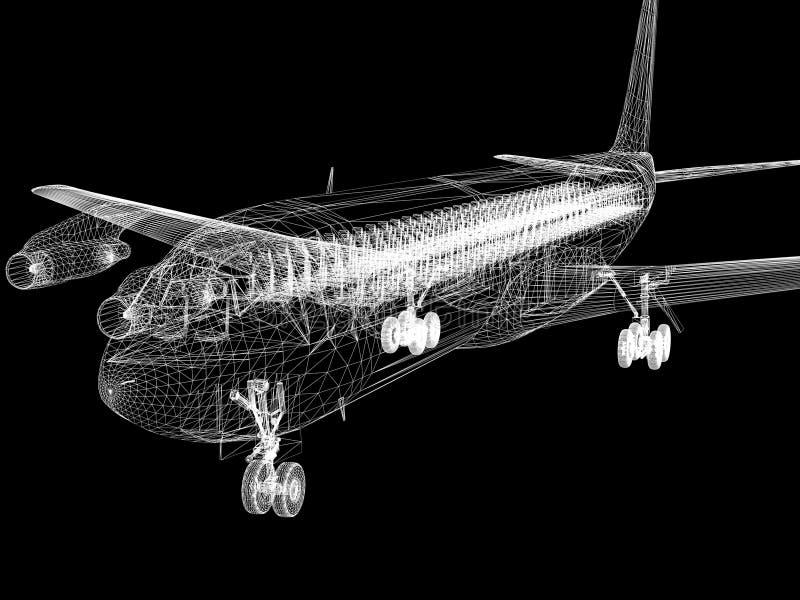 samolot ustawia trzy ilustracja wektor