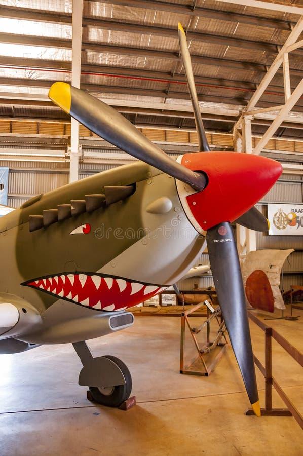 Samolot wśrodku Darwin wojskowego muzeum zdjęcia royalty free
