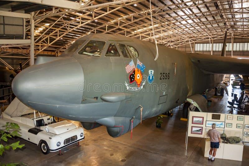 Samolot wśrodku Darwin wojskowego muzeum obraz stock