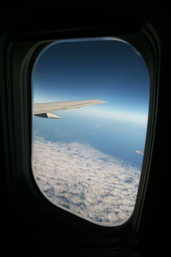 samolot widok obrazy stock