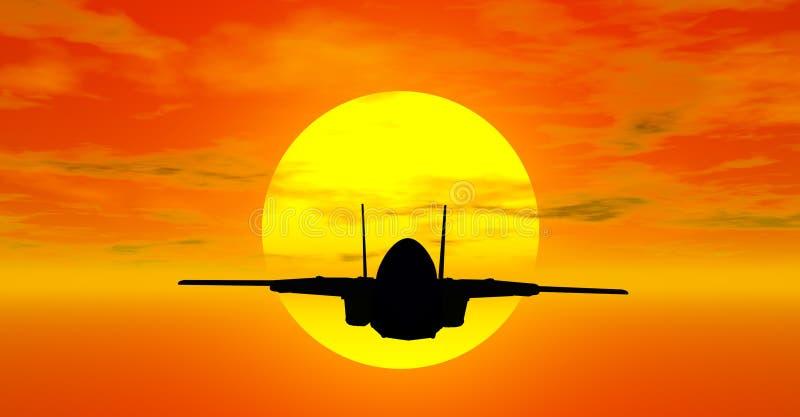 samolot wojskowy royalty ilustracja