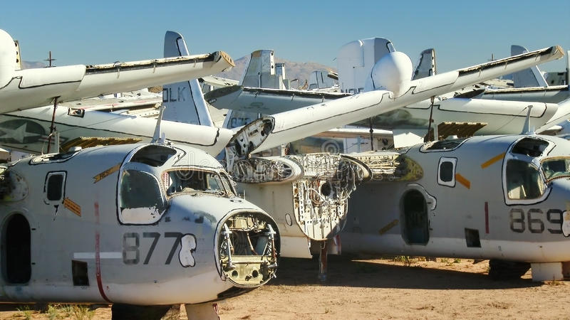 Samolot Wojskowy Boneyard zdjęcia royalty free