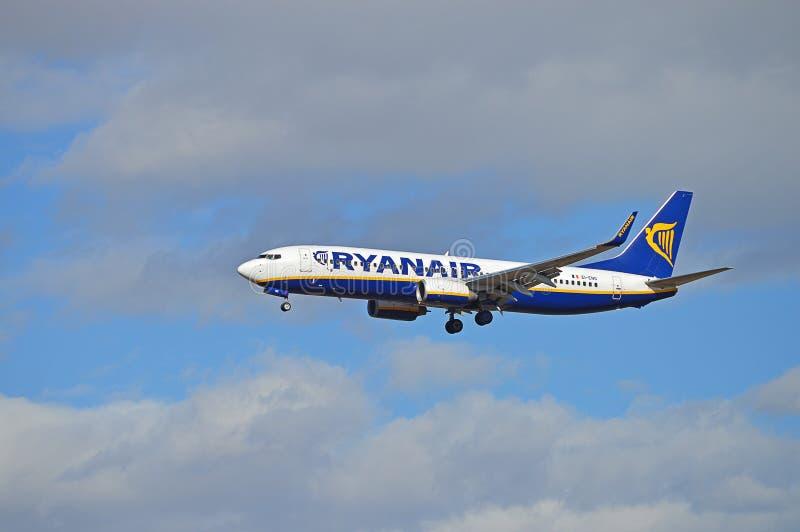 Samolot Z Undercarriage puszkiem fotografia royalty free