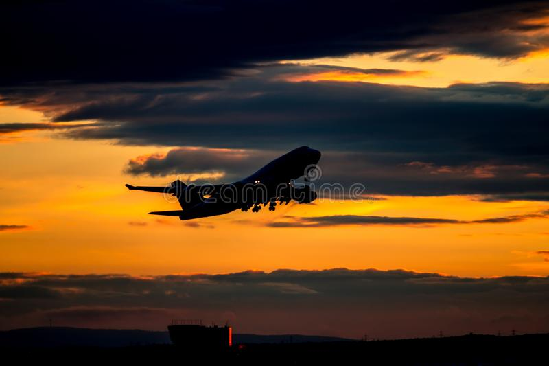 samolot z zabranie fotografia royalty free