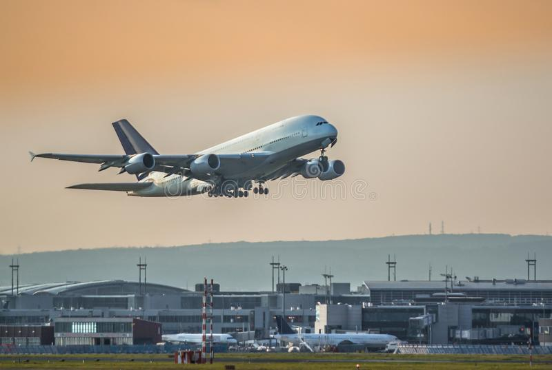 samolot z zabranie obraz stock
