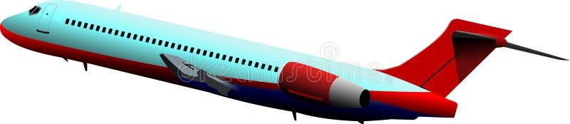 samolot z zabranie ilustracja wektor