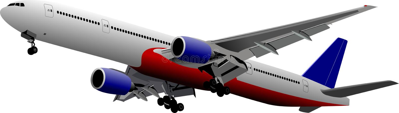 samolot z zabranie royalty ilustracja