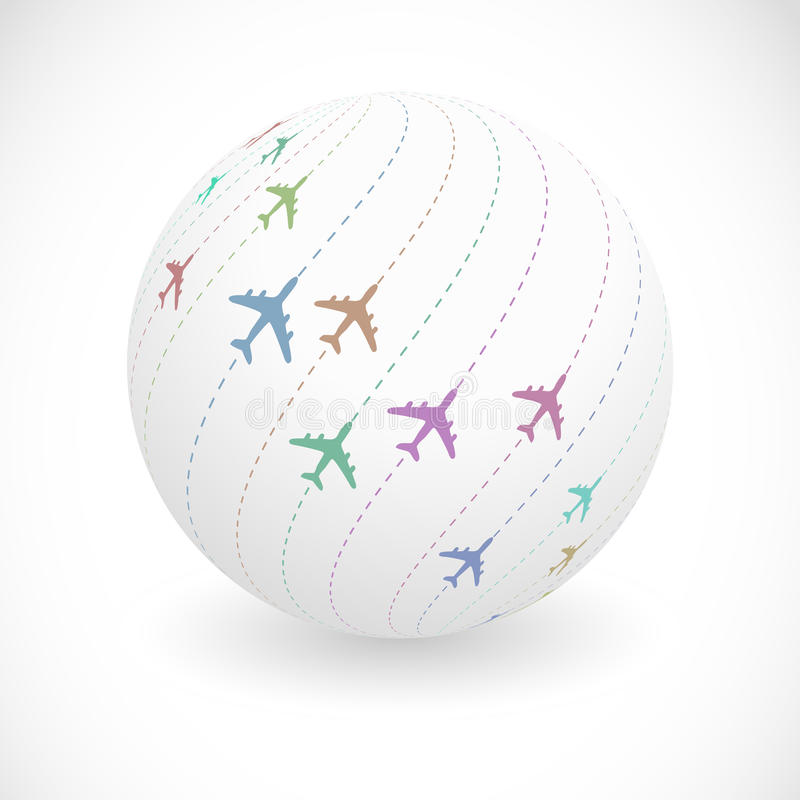 Samolotowa abstrakcjonistyczna ilustracja. royalty ilustracja