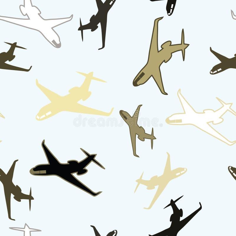 samolotowa bezszwowa tapeta ilustracja wektor