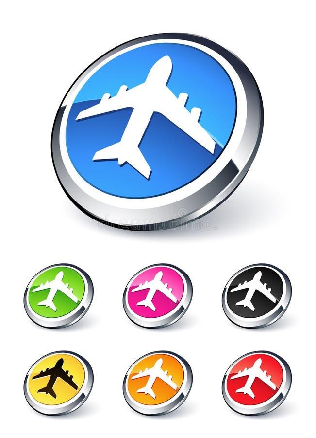 samolotowa ikona ilustracji