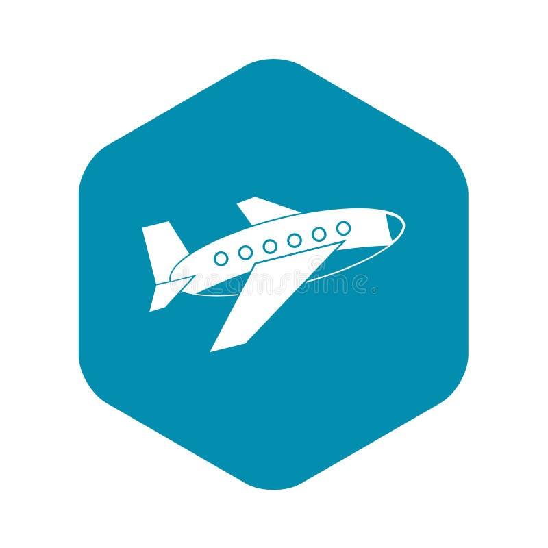 Samolotowa ikona, prosty styl ilustracja wektor