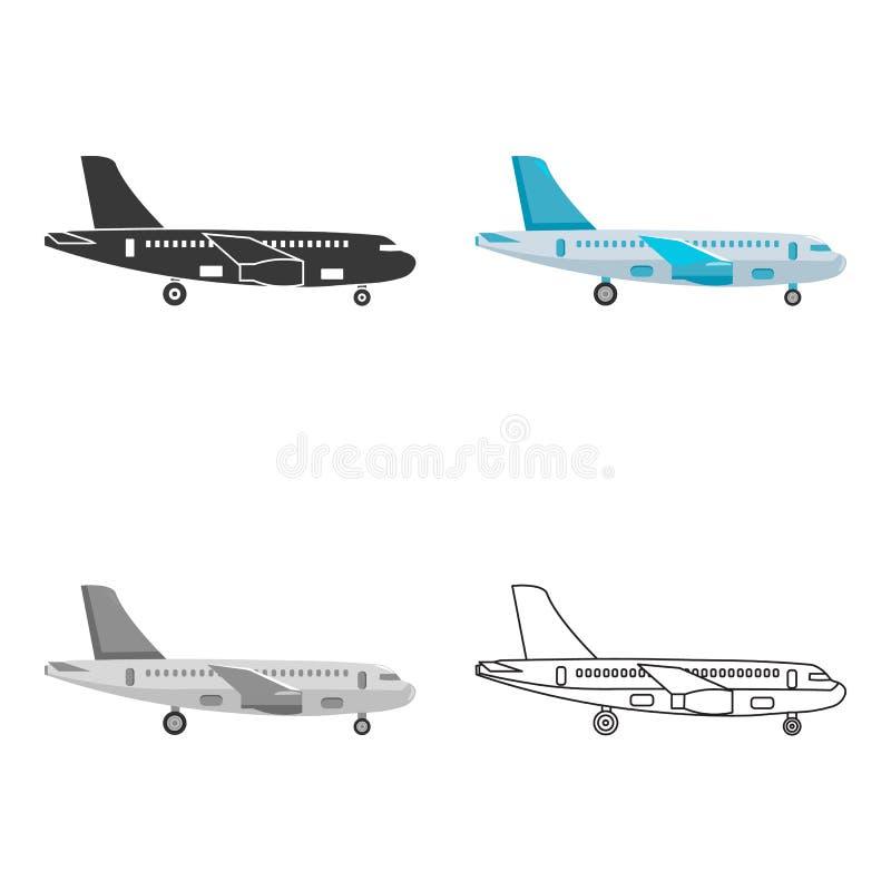 Samolotowa ikona wektorowa ilustracja dla sieci i wiszącej ozdoby ilustracji