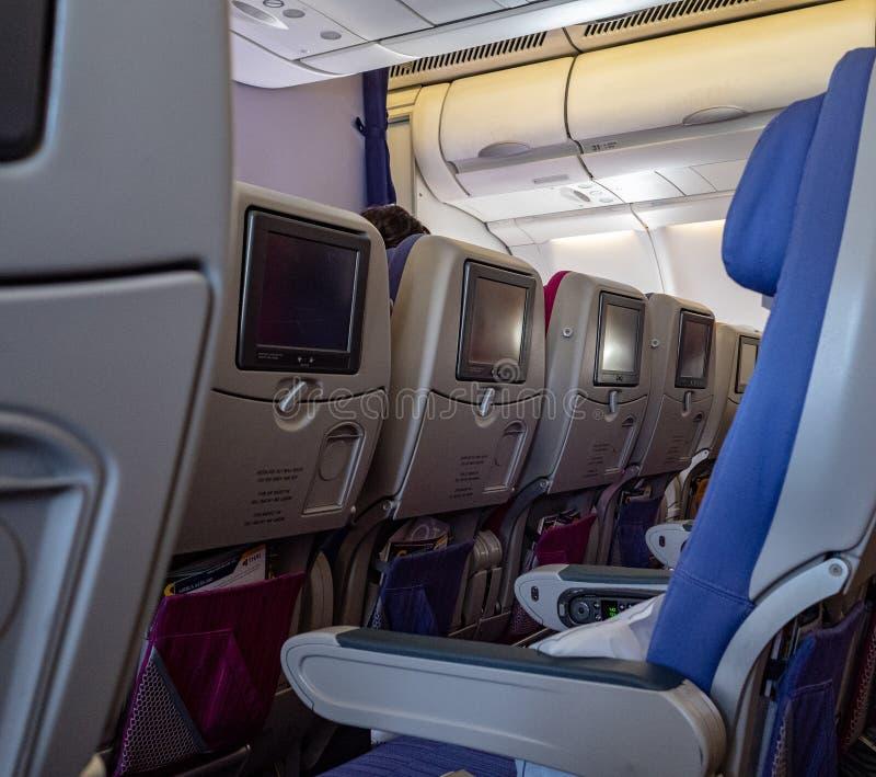 Samolotowa kabina fotografia royalty free