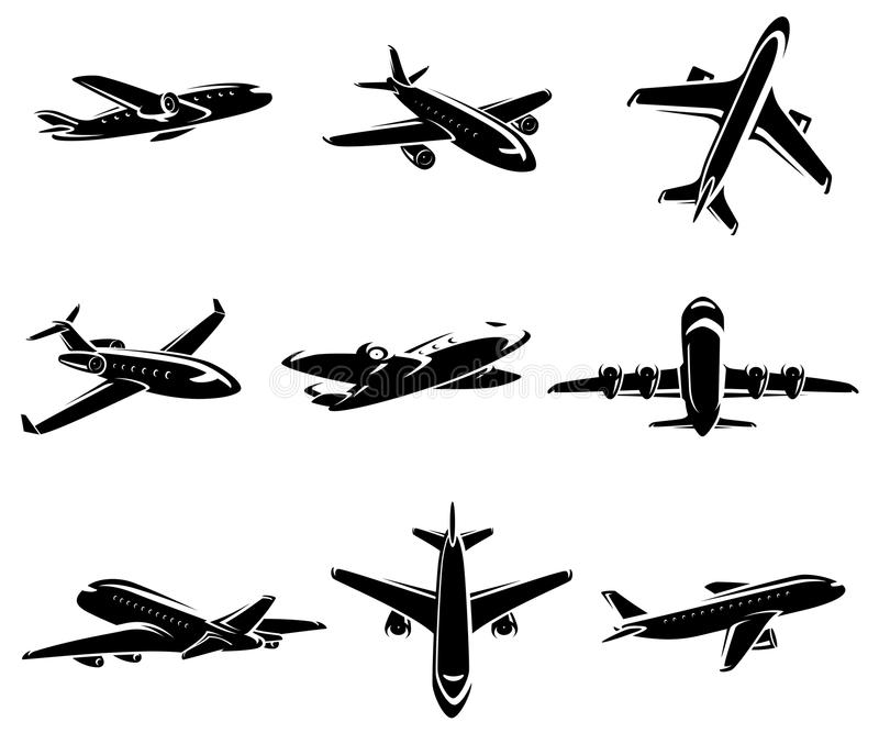 Samolotowa kolekcja. Wektor royalty ilustracja