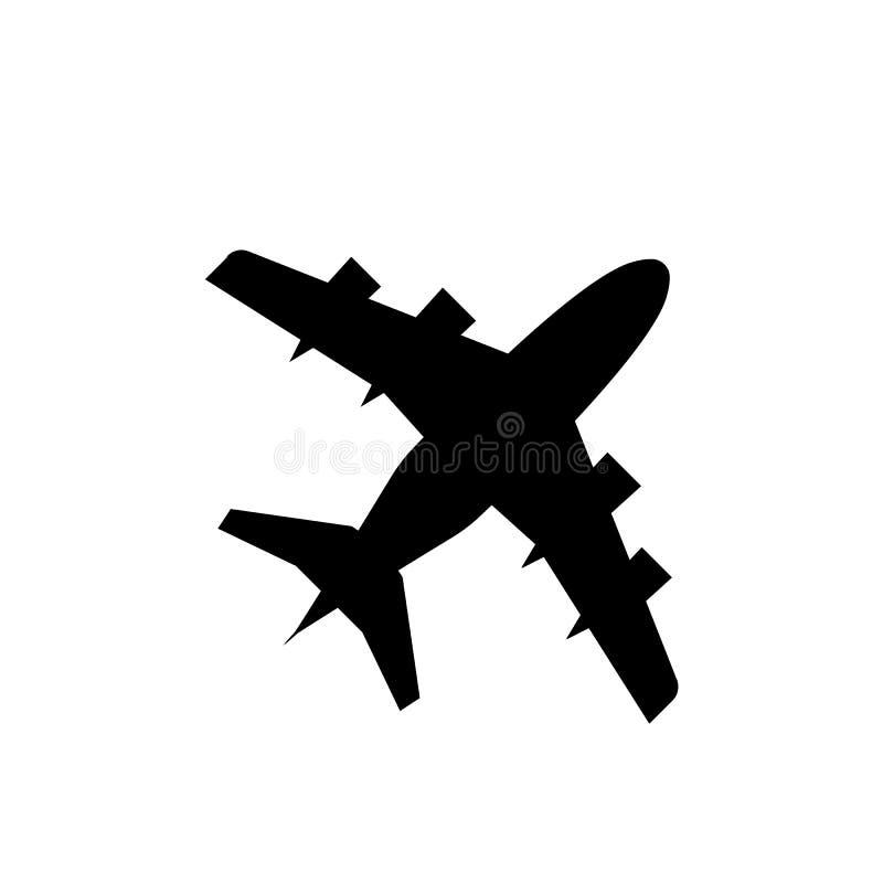 Samolotowa modna ikona Sylwetka samolot również zwrócić corel ilustracji wektora ilustracji