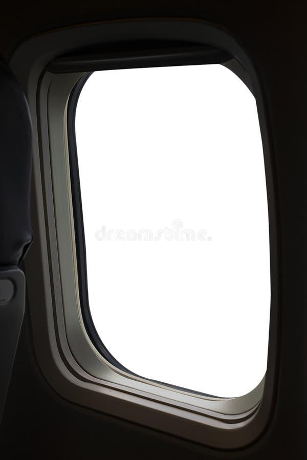 Samolotowa okno i bielu przestrzeń dla twój projekta, ścinek ścieżka obraz royalty free