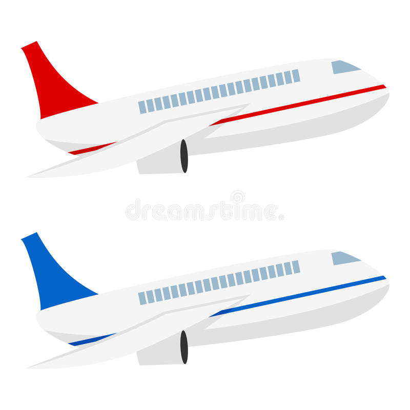 Samolotowa Płaska ikona Odizolowywająca na bielu royalty ilustracja