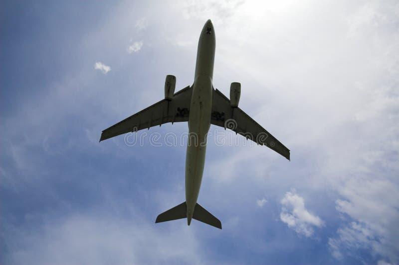 samolotowa sylwetka obraz stock