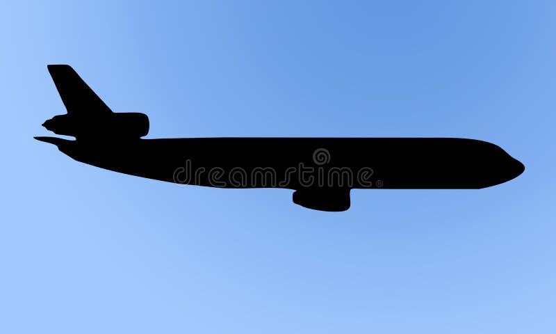 samolotowa sylwetka ilustracja wektor