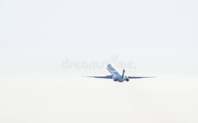 Samolotowa sylwetka fotografia stock