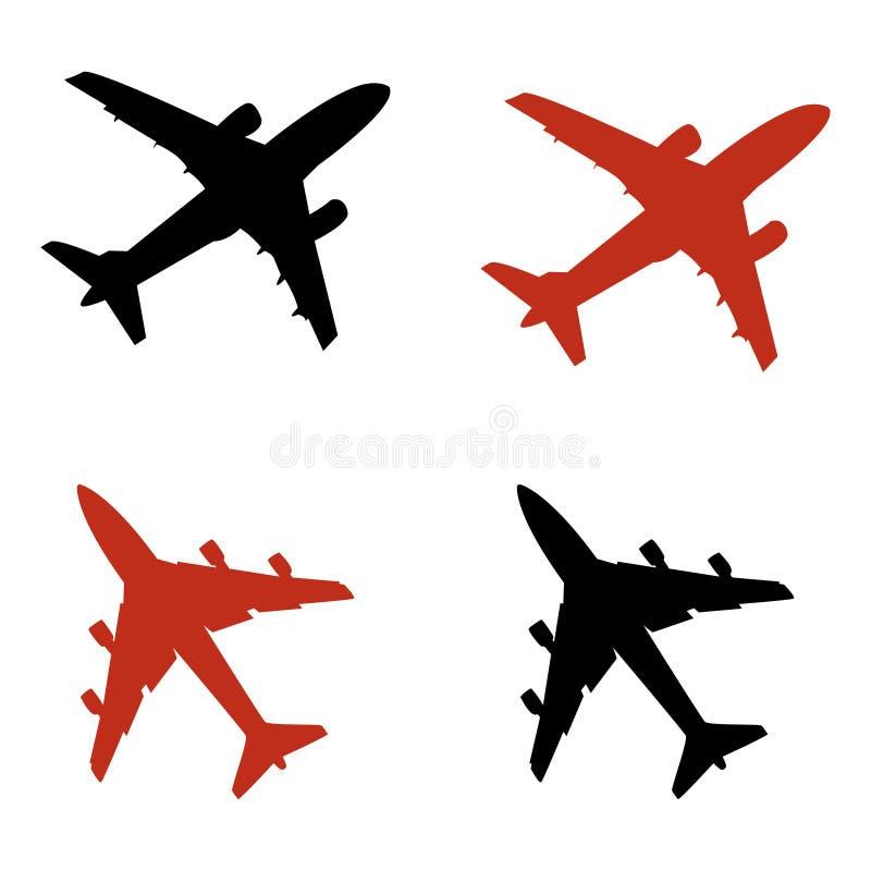 samolotowe ikony royalty ilustracja