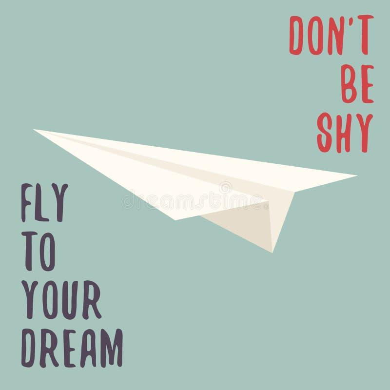 samolotowego ilustracyjnego układu rękodzielniczy origami papieru planu wektor Origami samolot Samolotowy symbol ilustracja wektor