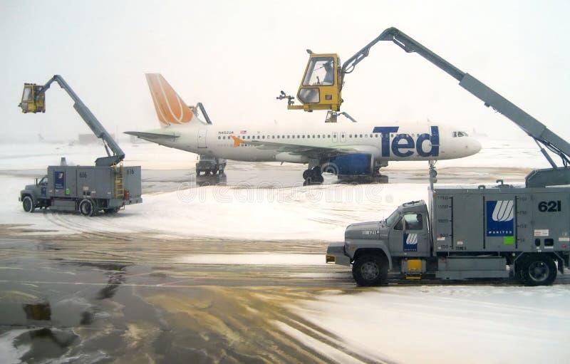 samolotowego odladzania operacje redakcyjne v 3 zdjęcia royalty free