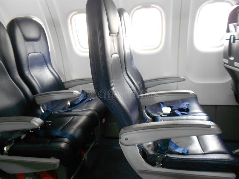 Samolotowi gospodarek siedzenia obrazy royalty free