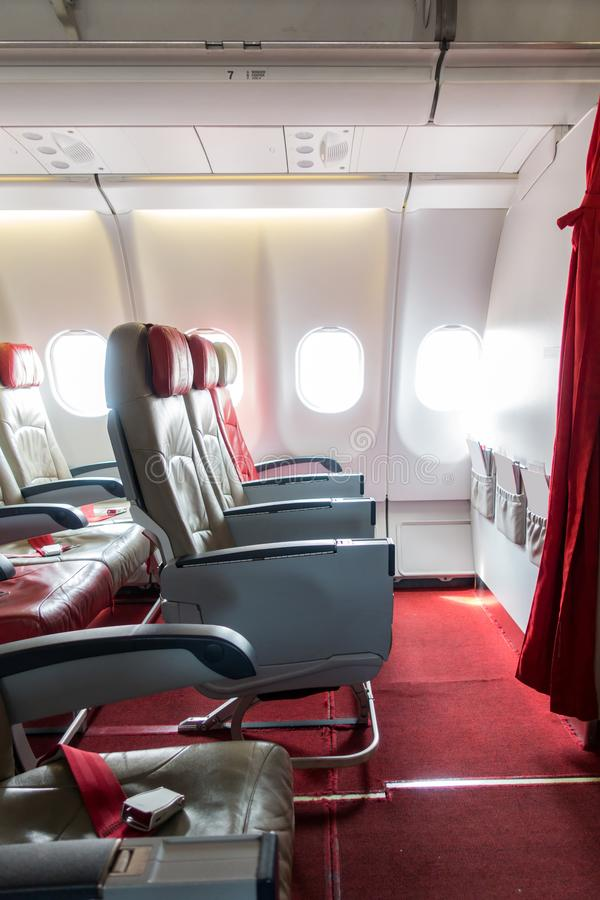 Samolotowi siedzenia fotografia stock