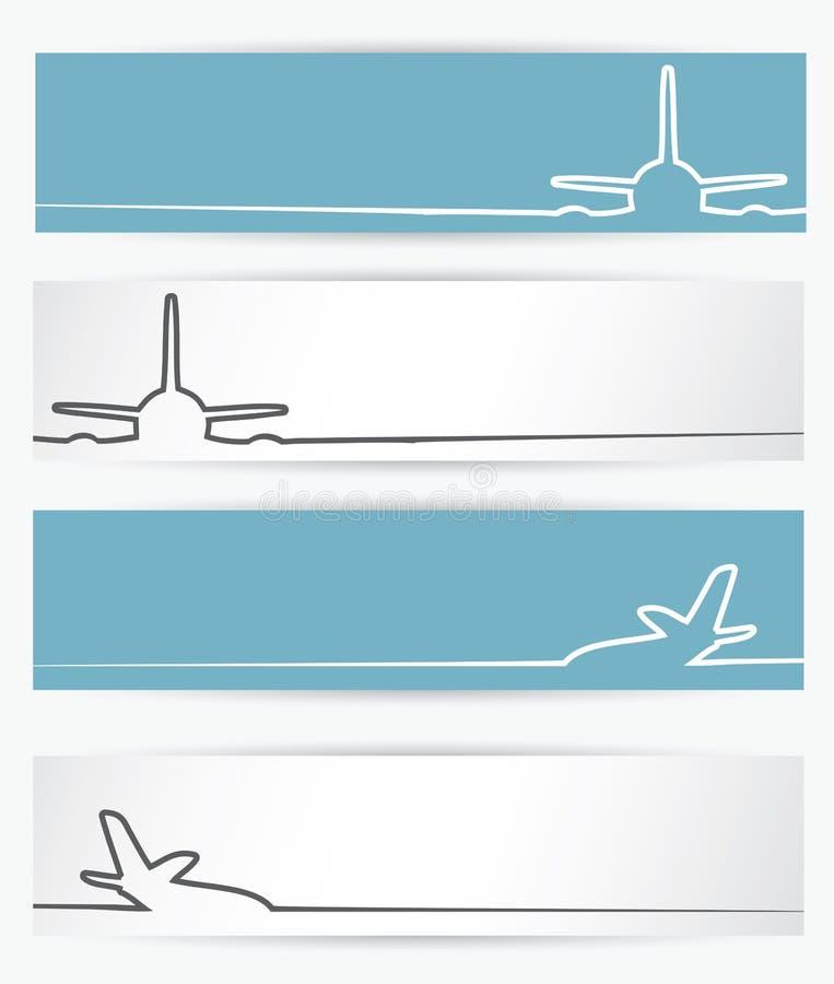 Samolotowi sztandary ilustracja wektor