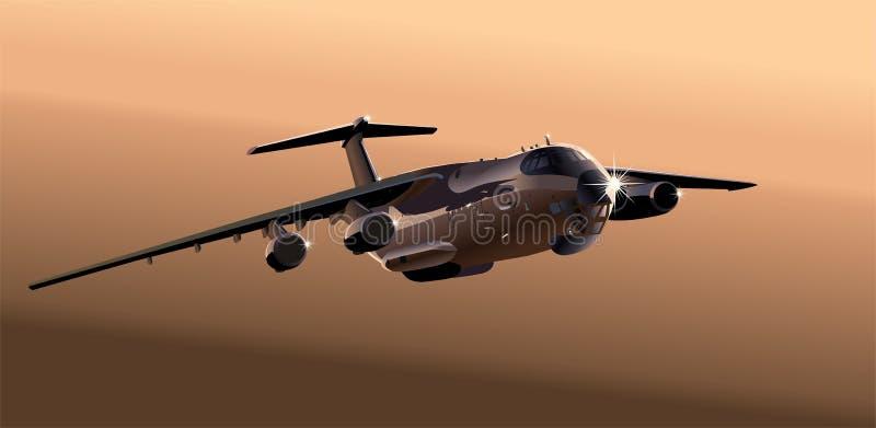 samolotowy ładunku wektor royalty ilustracja