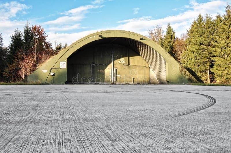 Samolotowy hangar obrazy stock